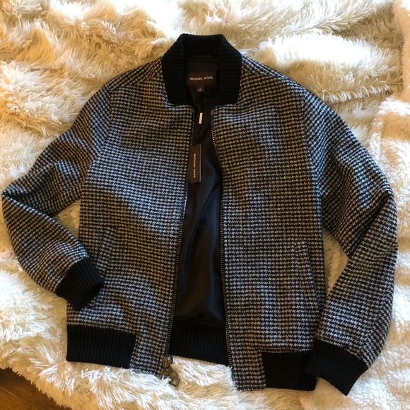 68752ea80 Michael Kors Men's Houndstooth Bomber Jacket NWT